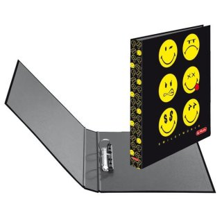 herlitz Ringbuch maX.file SmileyWorld A4 2-Ring 40mm Black