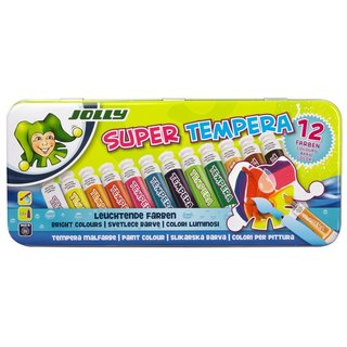JOLLY Super Tempera Malfarben 12 x 7,5ml