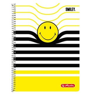 herlitz Collegeblock Smiley B&Y Stripes, DIN A4