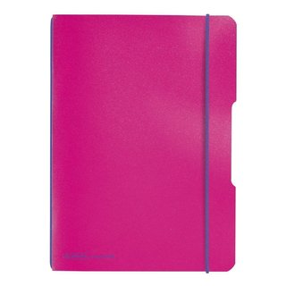herlitz my.book flex Notizheft A5 40 Blatt kariert pink