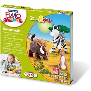 FIMO kids Modellier-Set Form & Play Savannah, Level 3