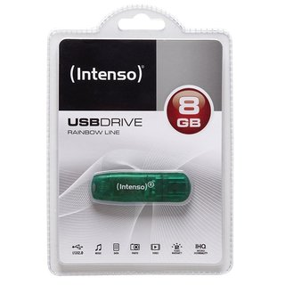 Intenso USB Stick USB 2.0 8GB Rainbow Line green