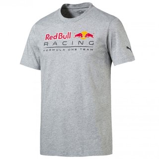 PUMA Red Bull Racing Logo Tee Light Grey Heather M