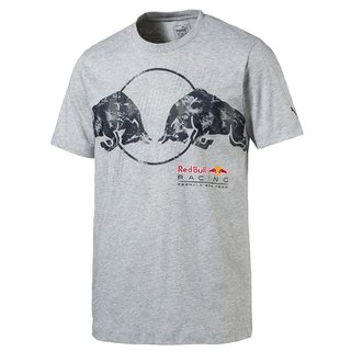 PUMA Red Bull Racing Graphic Tee Light Gray Heather S
