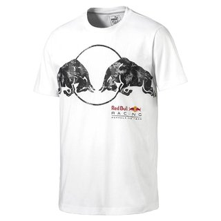 PUMA Red Bull Racing Graphic Tee Light Puma White L