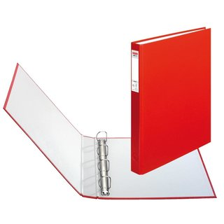 herlitz Ringbuch maX.file protect A4 4-Ring 40mm rot