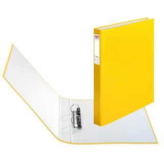 herlitz Ringbuch maX.file protect A4 2-Ring 40mm gelb