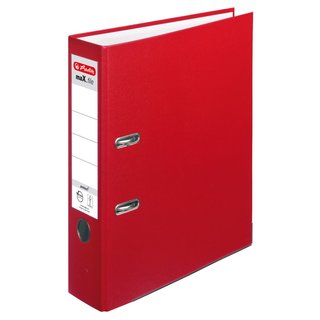 herlitz Ordner maX.file protect A4 80mm rot