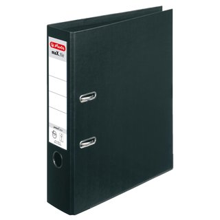 herlitz Ordner maX.file protect plus, 80mm, schwarz
