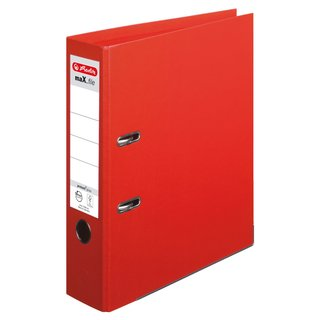 herlitz Ordner maX.file protect+ A4 80mm rot