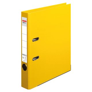 herlitz Ordner maX.file protect+ A4 50mm gelb