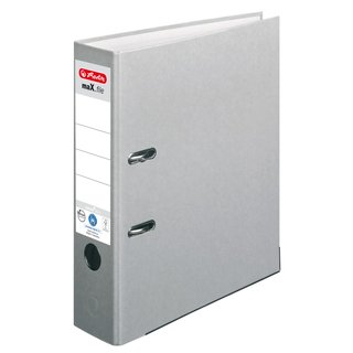 herlitz Ordner maX.file nature+ A4 80mm grau