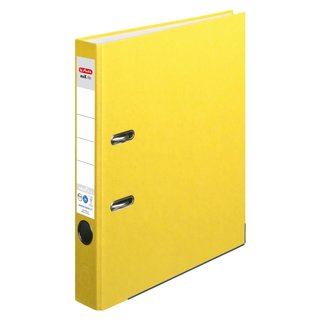 herlitz Ordner maX.file nature+ A4 50mm gelb