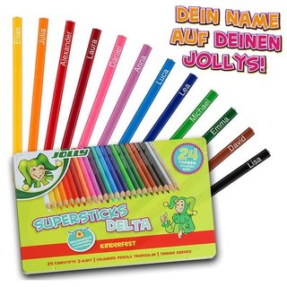 JOLLY Buntstifte Supersticks DELTA 24er Metalletui mit...
