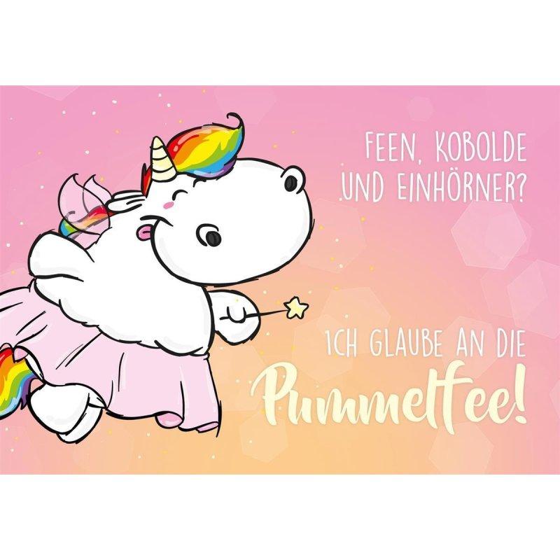Weiter glitzern quer Postkarte - Pummelfee Pummel /& Friends