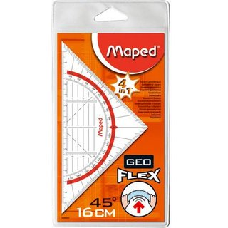 Maped Geometrie - Dreieck Geo-Flex, Hypotenuse: 160 mm