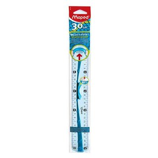 Maped flexibles Lineal 30 cm mit Griff softtouch - blau