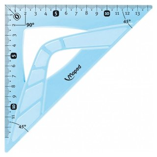 Maped flexibles Geometriedreieck 45° 21 cm - blau
