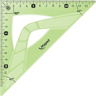 Maped flexibles Geometriedreieck 45° 21 cm - grün