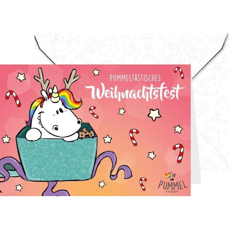 Pummeleinhorn Grußkarte mit Umschlag, Weihnachtsfest! - my-shop ...