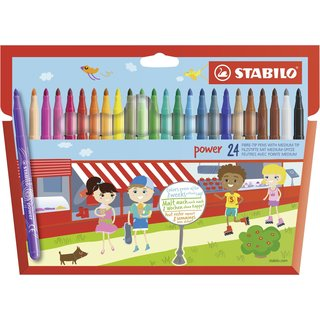 STABILO Power Filzstifte 24er