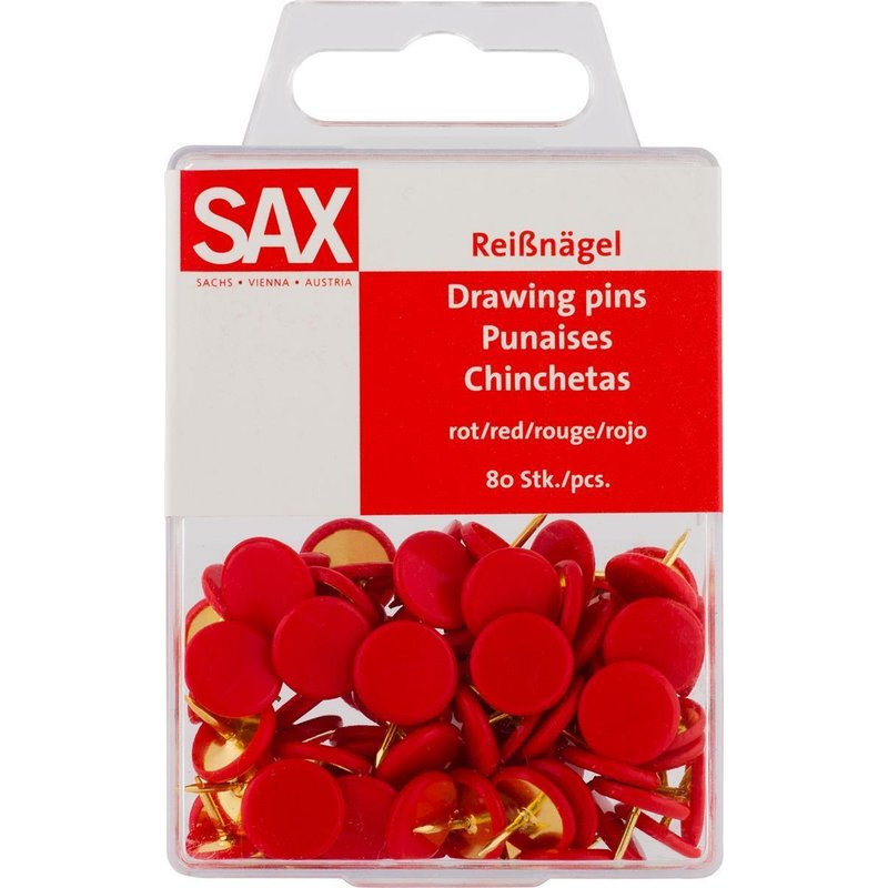 SAX Reissnagel rot 80 Stk. Packung