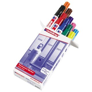 edding 3000 Permanentmarker 10er Box Standardfarben