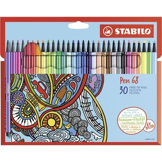 Premium-Filzstift - STABILO Pen 68 - 30er Pack - mit 30...