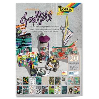 folia Motivblock Graffiti, 240 x 340 mm, 20 Blatt