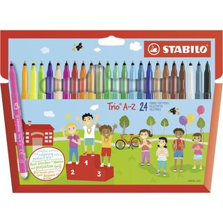 Filzstift - STABILO Trio A-Z - 24er Pack - mit 24...