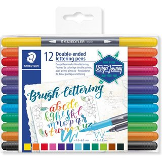 STAEDTLER brush letter duo Pinselmarker Design Journey 12er