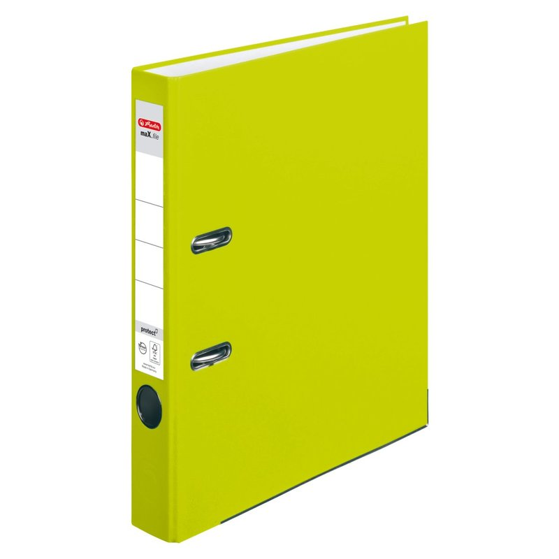herlitz Ordner maX.file protect A4 50mm neongrün