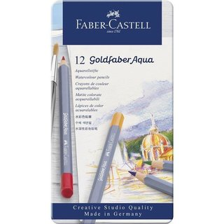 FABER-CASTELL Aquarellstifte GOLDFABER, 12er Metalletui