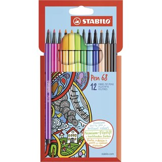 STABILO Color 12er-Metalletui Buntstift 1812-77