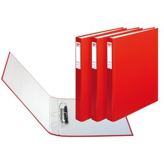herlitz Ringbuch maX.file protect A4 2-Ring 40mm rot 3er...