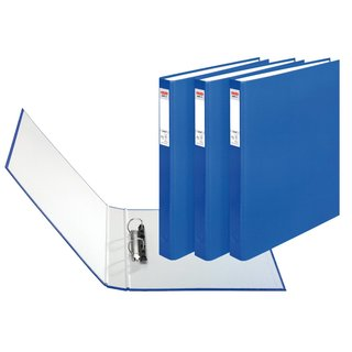 herlitz Ringbuch maX.file protect A4 2-Ring 40mm blau 3er...
