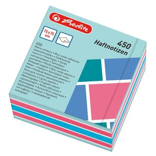 herlitz Haftnotizblock 75x75mm 450 Blatt Color Blocking
