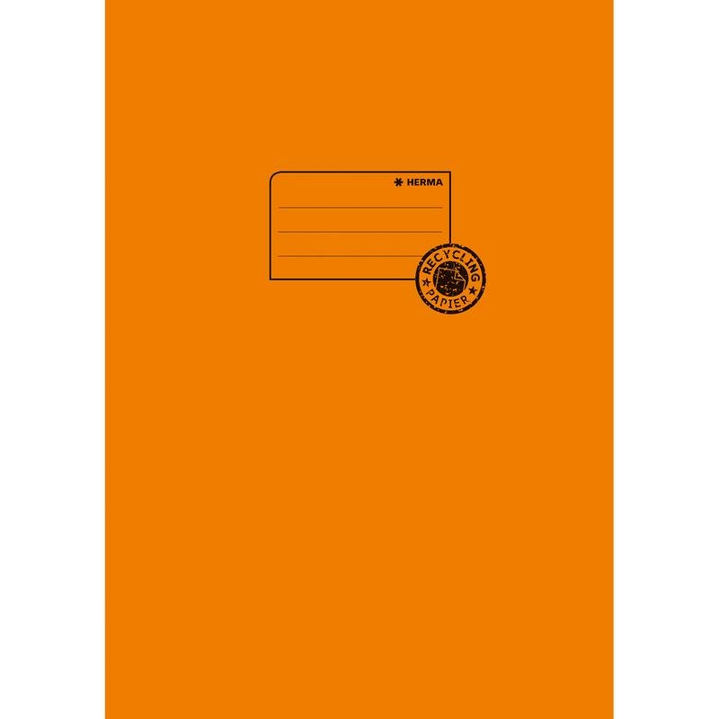 HERMA Heftschoner Recycling, DIN A5, aus Papier, orange