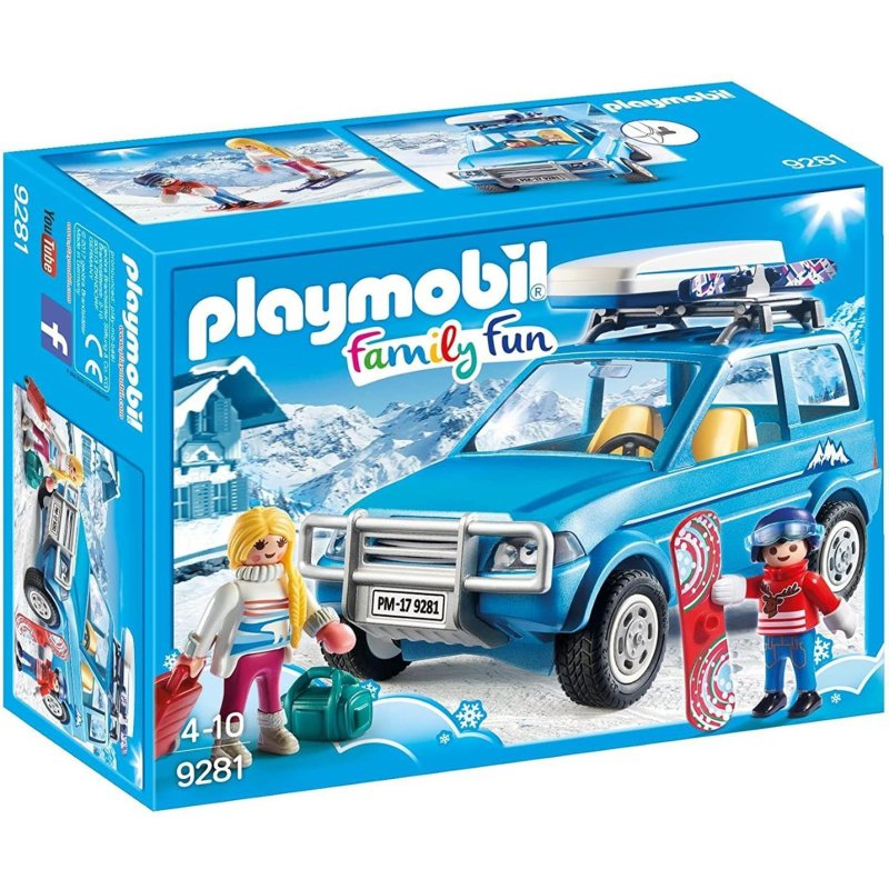 PLAYMOBIL Family Fun Auto mit Dachbox 9281