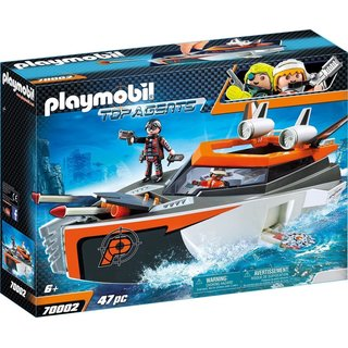 PLAYMOBIL Top Agents Spy Team Turboship 70002