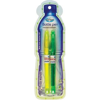 Centrum Bottle-Pen Textmarker gelb & grün 2er Set