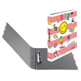 herlitz Ringbuch maX.file SmileyWorld A4 2-Ring 40mm Girly