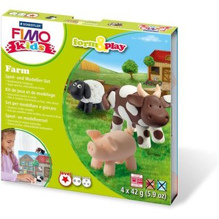 FIMO kids Modellier-Set Form & Play Farm, Level 1