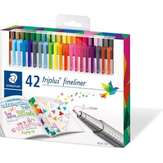STAEDTLER 334 triplus Fineliner Brilliant Colours 42er Etui