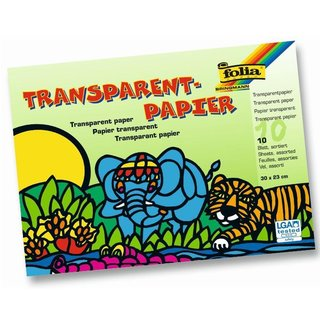 folia Transparentpapier-Bastelheft, 200 x 300 mm, 10 Blatt